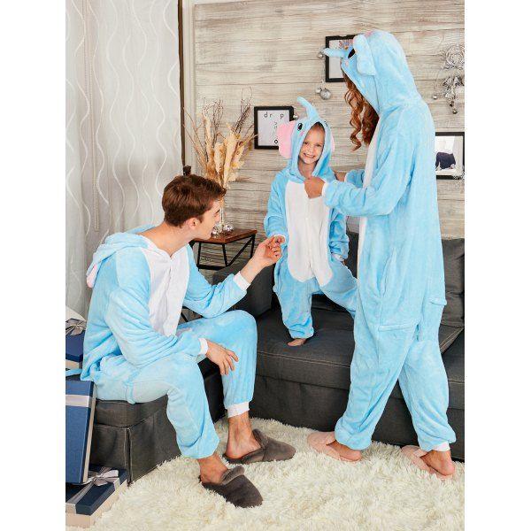 ec5bbac77a Elephant Animal Onesie Matching Family Christmas Pajama - Blue Mom S Mobile