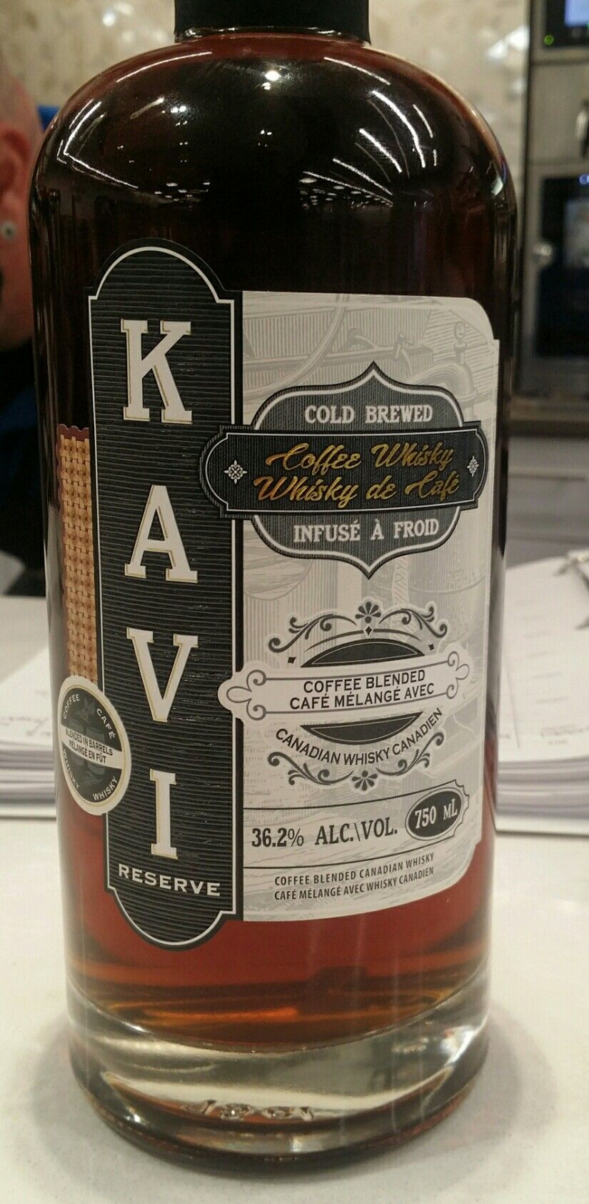 Kavi Reserve Coffee Whiskey Canada 36.2 alcohol 40
