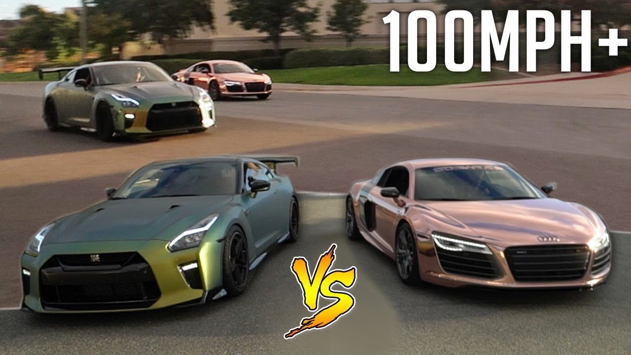 INTENSE DRAG RACE Vs TANNER BRAUNGARDT'S AUDI R8!