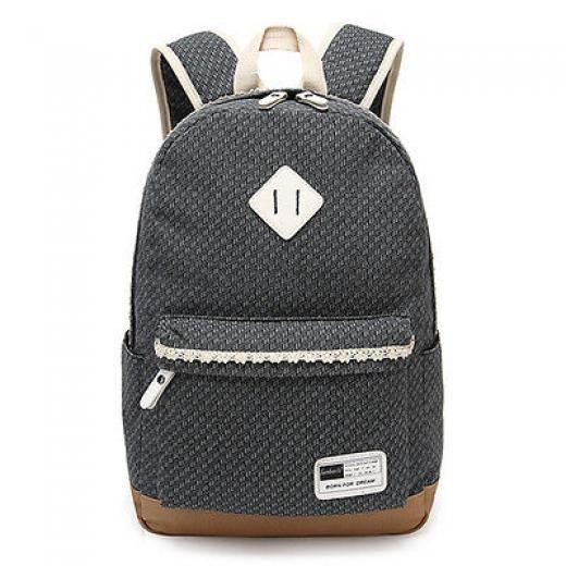 85dd6ac609 Lace Fashion School Bag Hiking Outdoor Backpack Men Women Shoulder  8809 O  Multi-coloured Canvas 20-35l Expandable Laptop Friendly Tie-down Straps No