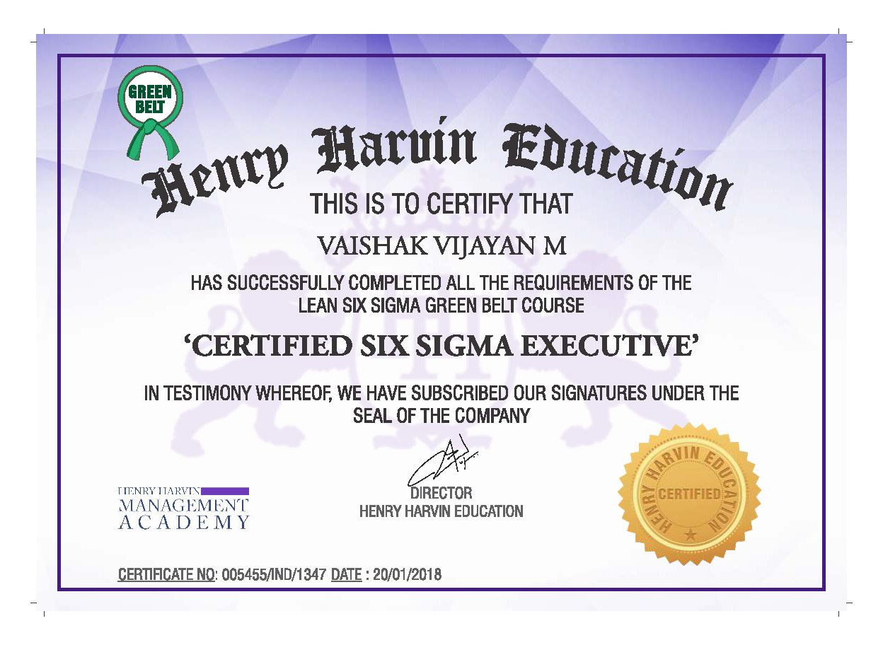 Lean Six Sigma Green Belt Certification By Henry Harvin Education