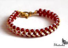 Free Pattern For Beaded Bracelet Barberry | Beads Magic  1  granos de la semilla 11/0  granos de la semilla 8/0  talló los granos de 4-6 mm