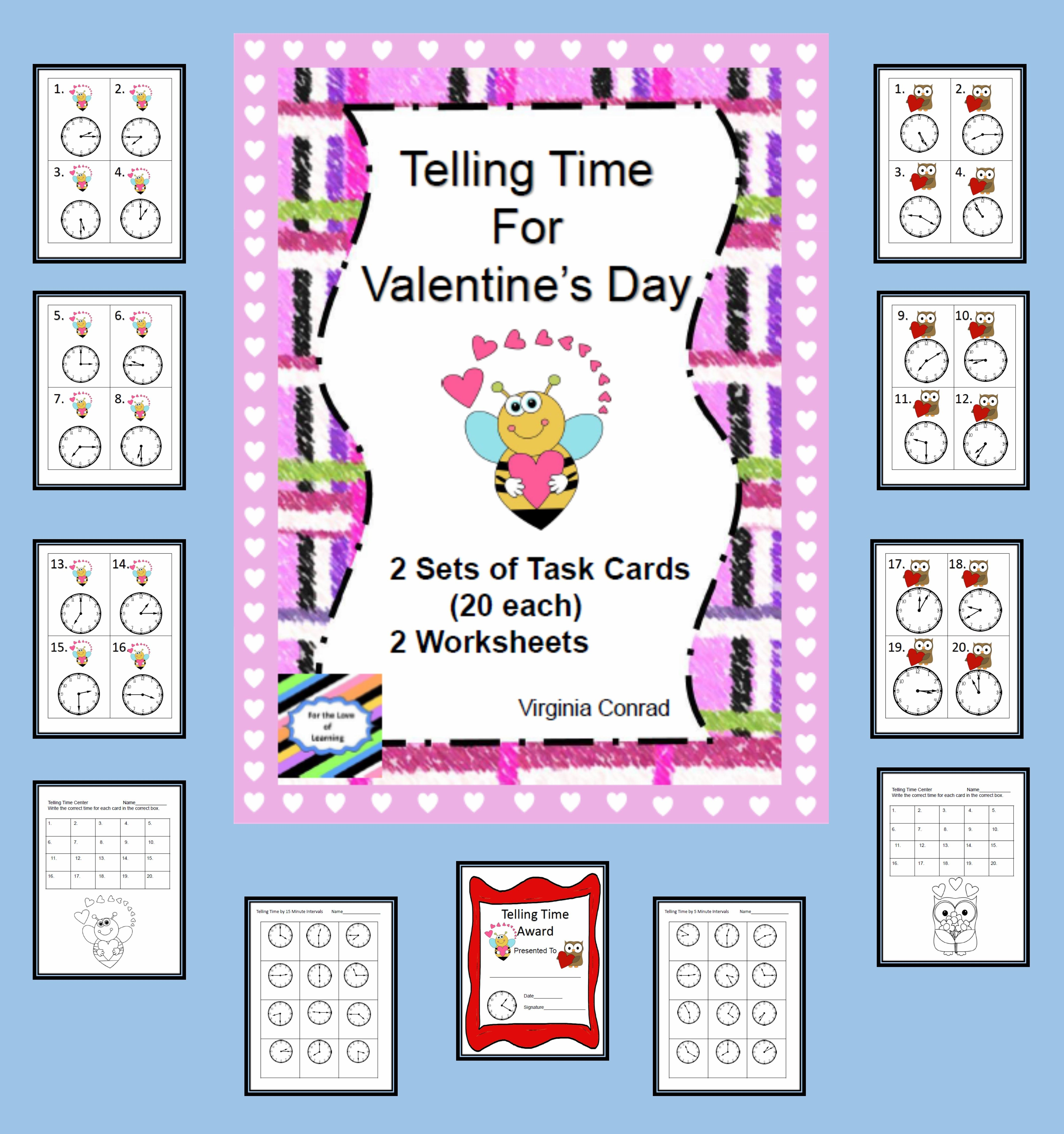 Telling Time At Valentine S Day
