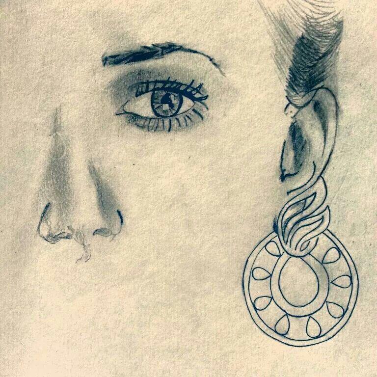 Line Drawing Face Earrings : Sketch earring work my sketches pinterest ux ui