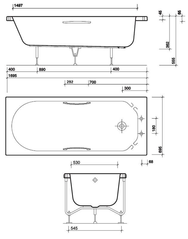 Resultado de imagem para dimensions of bathroom for Bathtub length
