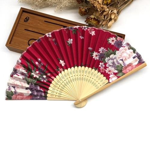 Doing Your Own Flowers For A Wedding: 1pcs Cherry Blossom Bamboo Asian Pocket Fan Decoration