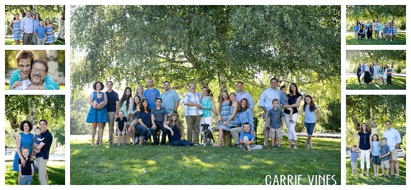 Multi generation family photo session large grouping ideas outdoor family session oak glen family photography southern california family photographer