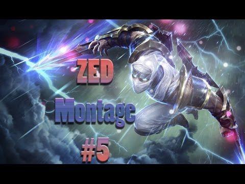 những pha xử lý hay ZED montage #5 . 1 vs 5 Zed pentakill !