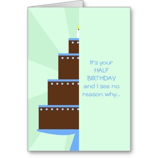 coupon code half birthday card half birthday cake half birthday card