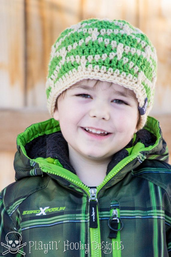 CROCHET HAT PATTERNS Shell Shock Beanie Adult and Kid Sizes ...