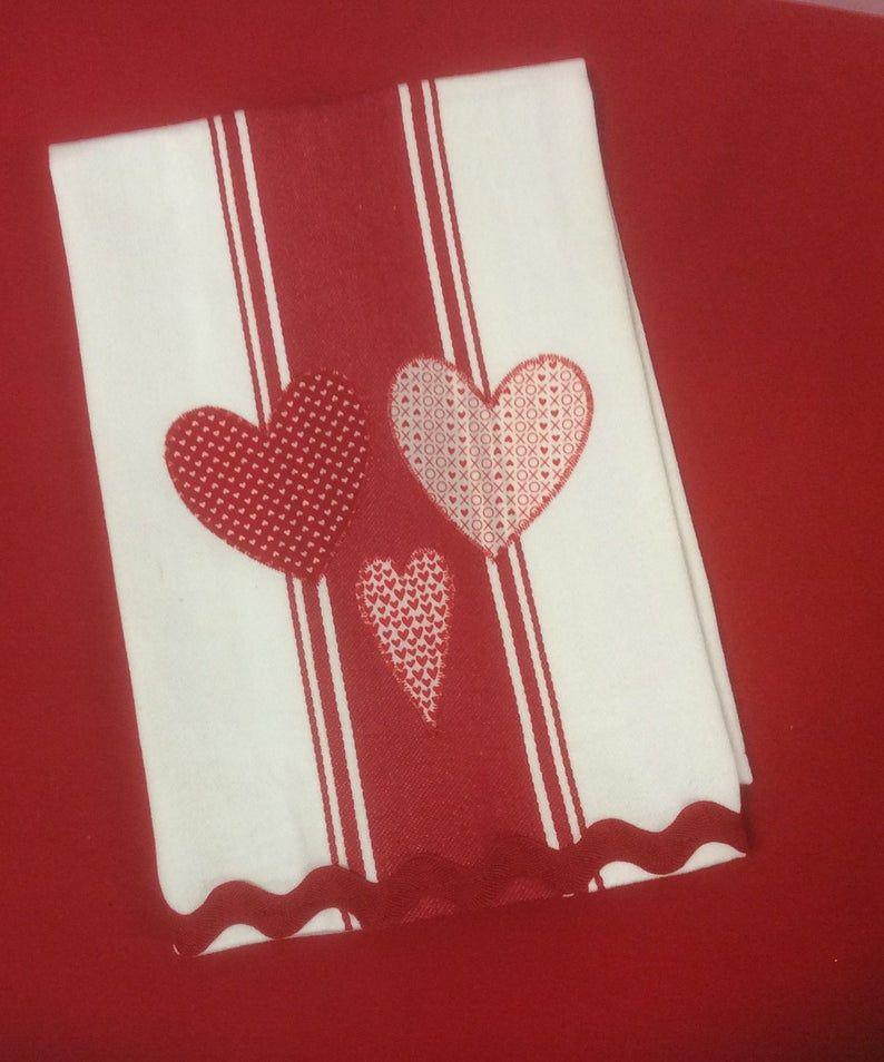 Kitchen Towel Valentine Towel Heart Towel Decorative Hand