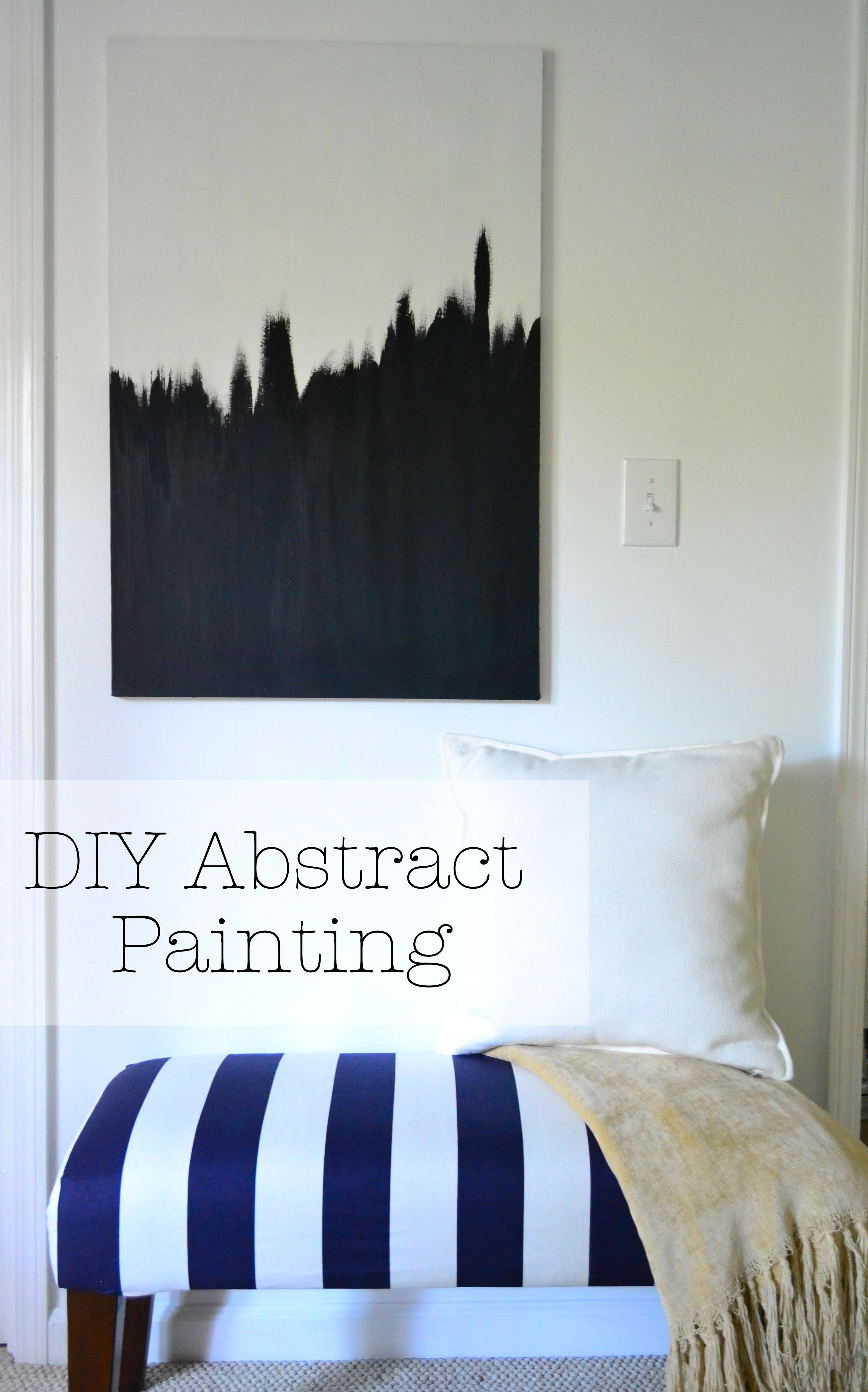 DIY Abstract Painting - could hang three canvas' from ceiling, to ...