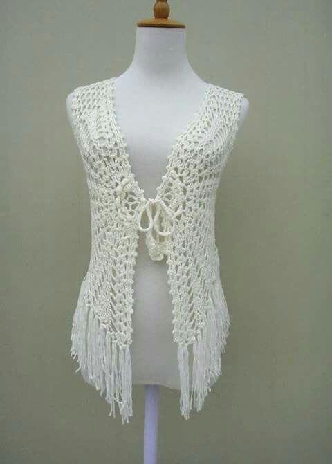 Pin by bernadette ontong on crochet pinterest crochet vest fringe crochet sleeveless cardigan cover up dt1010fo