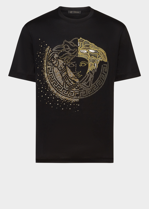 725e0271 VERSACE Embroidered Crystal Medusa T-Shirt. #versace #cloth ...