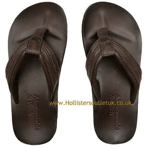 f6eb65e0615961 Abercrombie and Fitch Men Classic Leather Flip Flops