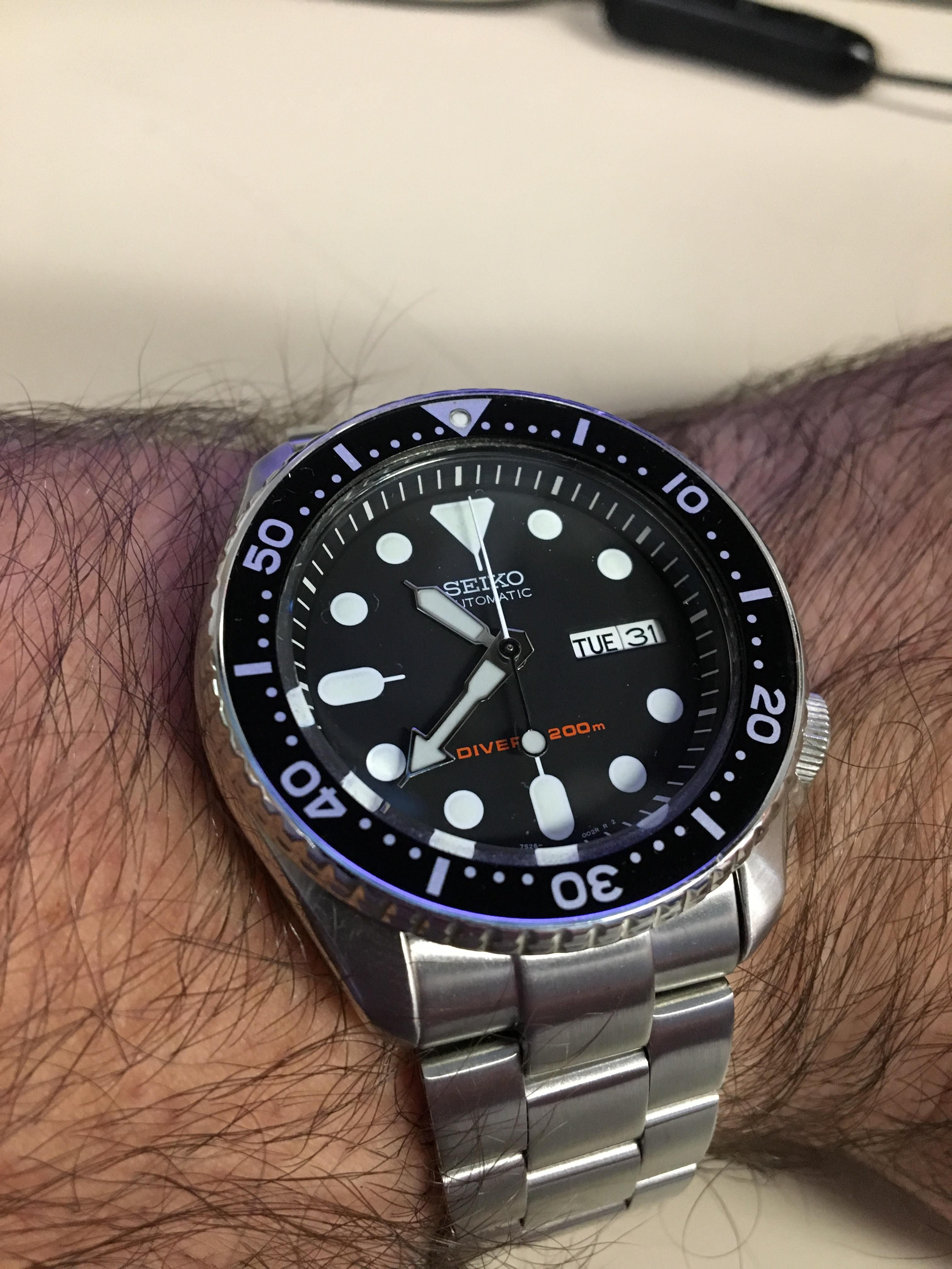 37dcced29a5 Seiko  Finally picked up a Super Oyster bracelet for my SKX007 ...
