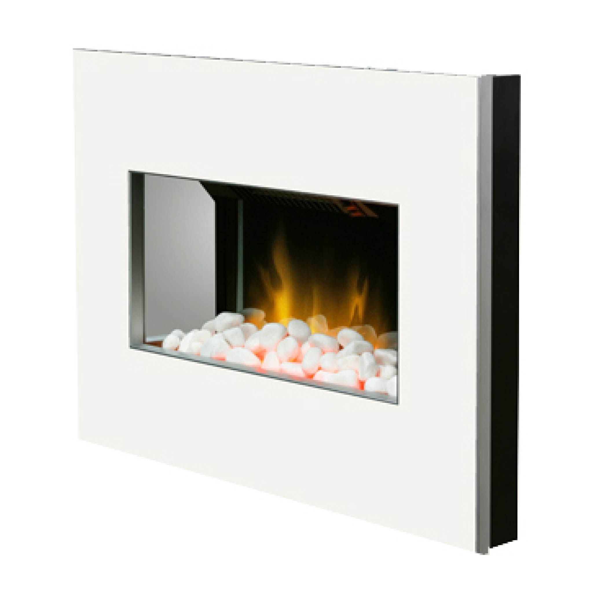 Clova White 2kw Wall Mounted Electric Fire With Optiflame