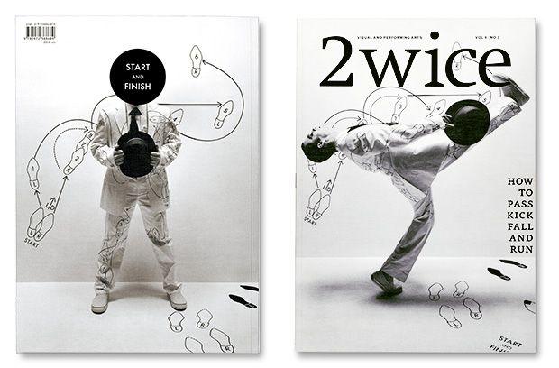 Abbott Miller, 'How to Pass, Kick, Fall and Run' issue of 2wice magazine, 2006.