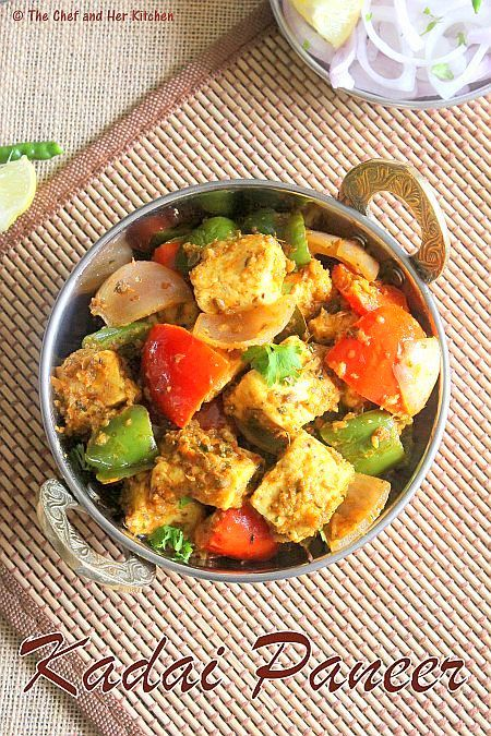 kadai paneer recipe paneer recipes recipes vegetarian recipes on hebbar s kitchen kadai paneer id=36361