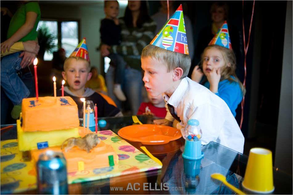 Orange and Yellow Boys Lego Birthday Party