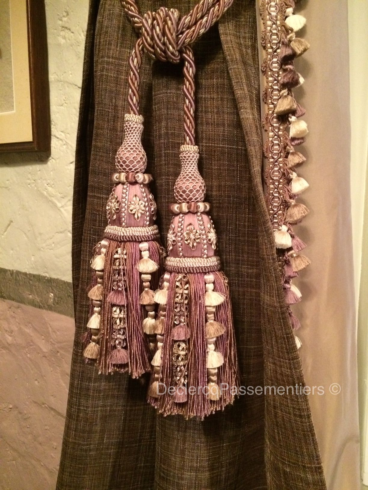 Embrasses A Jasmins Tanit Soie Declercq Passementiers Passementerie Trimmings Beaded Necklace Beaded Tassels