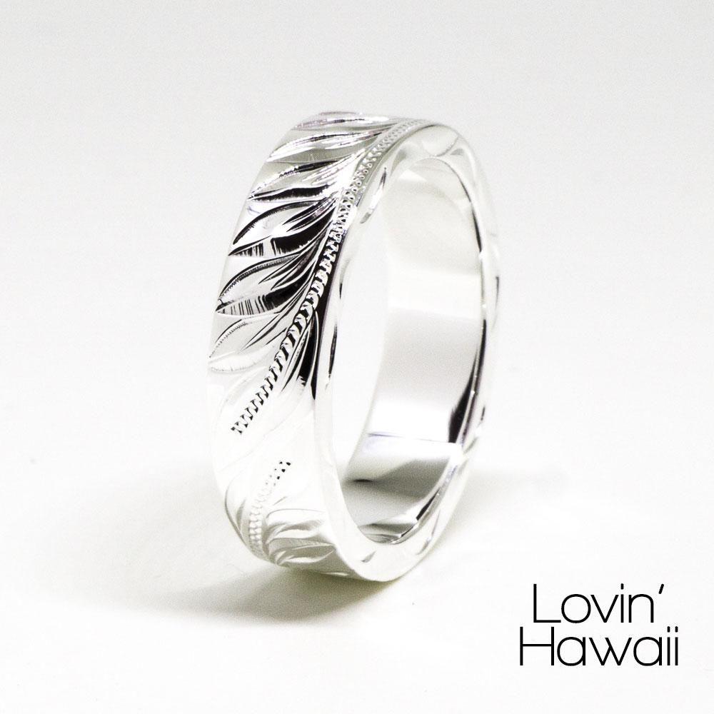 Handmade hawaiian wedding engagement sterling silver ring mm
