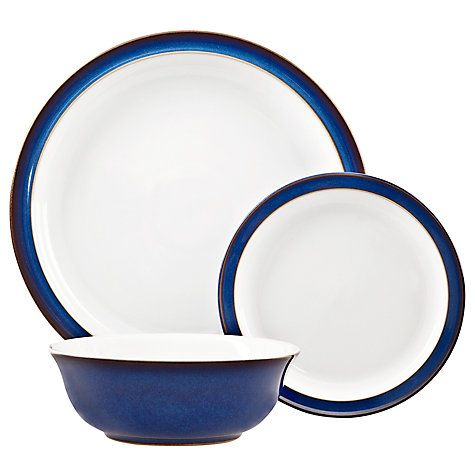 Denby Imperial Blue Dinnerware Set 12 Piece Blue Dinnerware