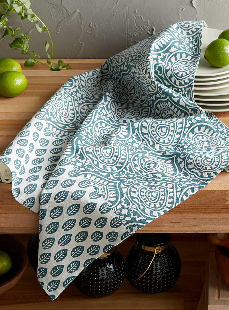 Paisley Medallion Tea Towel Simons Maison Decorative Kitchen