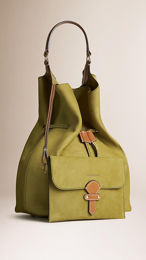 Olive green tan The Large Ashby in Suede - Image 3 Burberry Taschen 410216e85c0d1