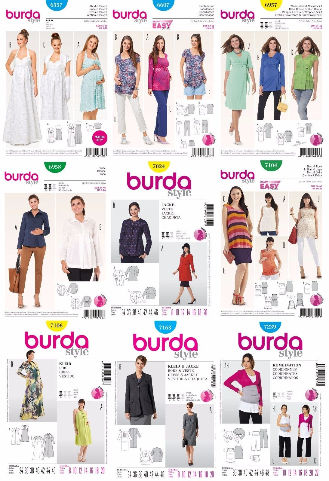 83f1fac46348c $3.99 - Burda Sewing Patterns Misses' Maternity Clothes Future Mama Dresses  Outfits Pant #ebay #Home & Garden