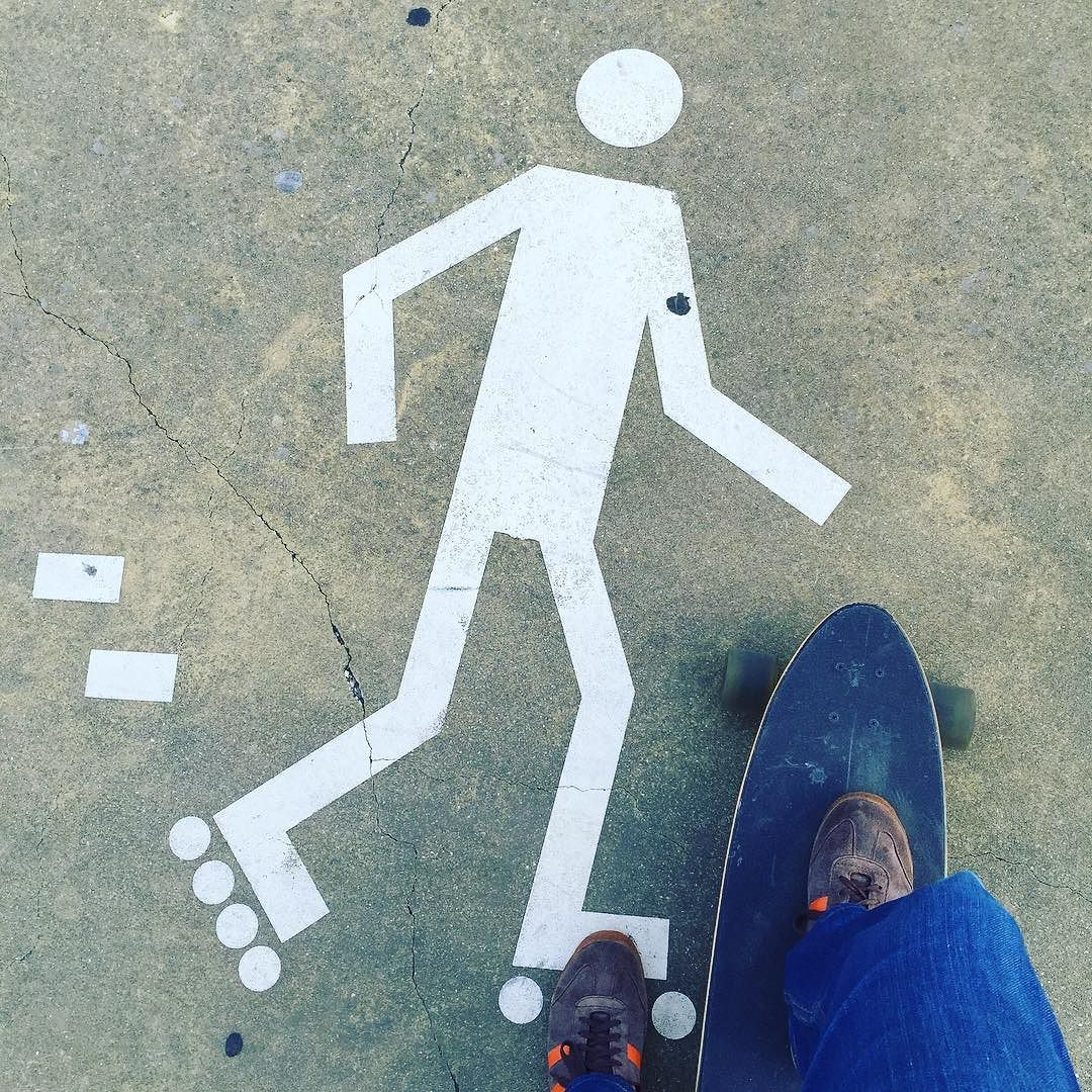 Longboarding on rollerblading zone