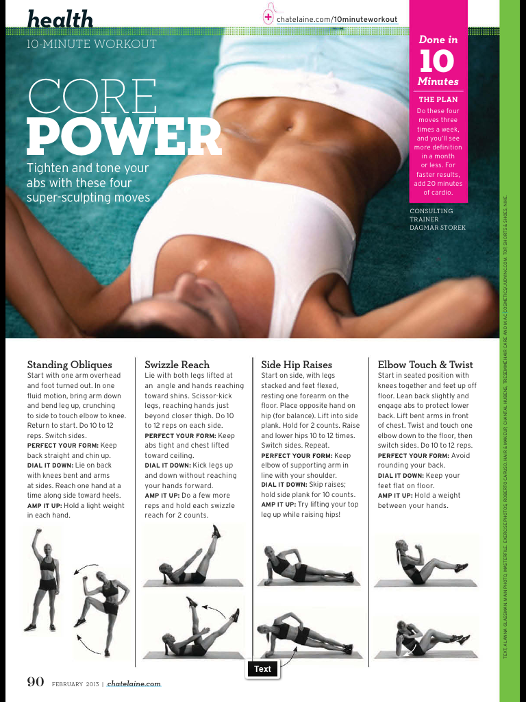Img exercise pinterest core strength workout weigh loss