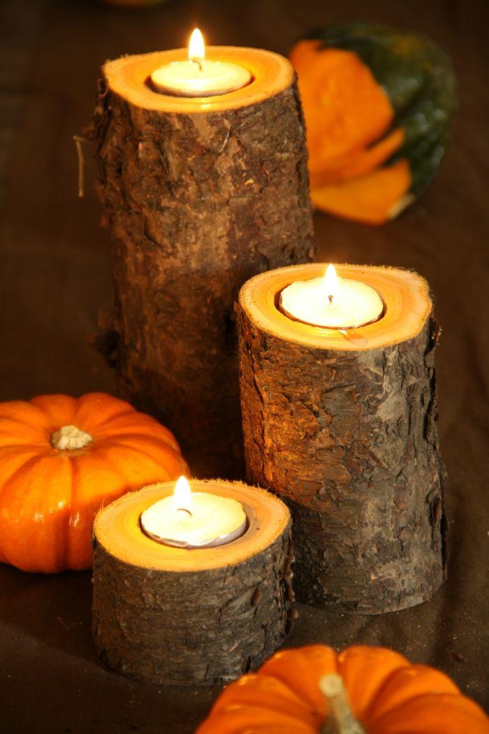 Kerzenhalter aus Holz ✂ DIY Crafts - Basteln Pinterest - herbst deko ideen fur ihr zuhause
