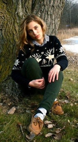 Kind of perfect winter-in-Vermont preppyness right here