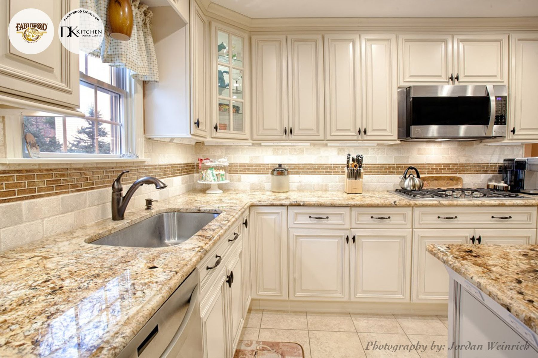 Another stunning view of the Wellington kitchen in Ivory glaze completed by  DK Kitchen Design CenterAnother stunning view of the Wellington kitchen in Ivory glaze  . Ivory Kitchens Design Ideas. Home Design Ideas