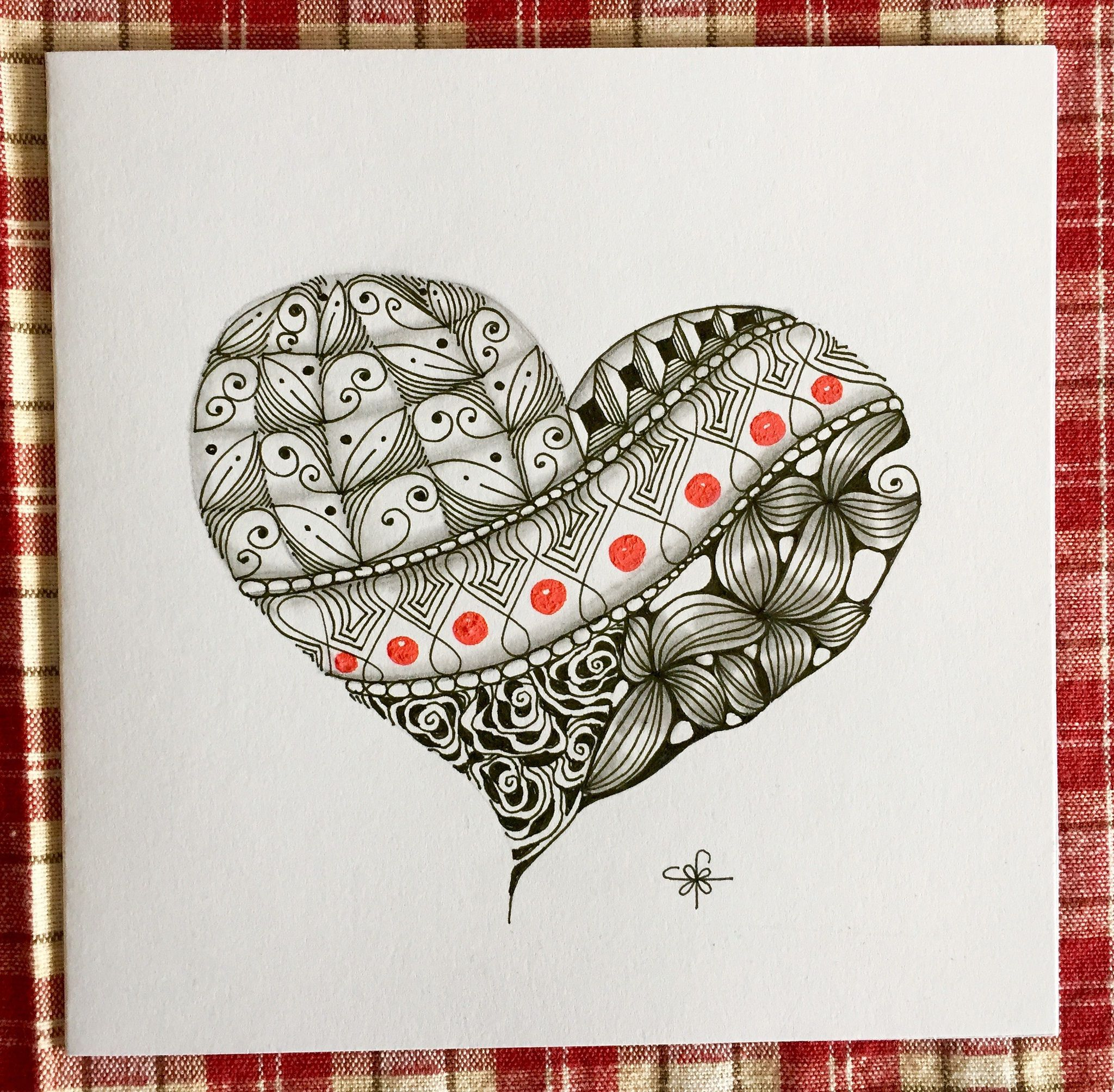 Heart Anniversary Card Cards Heart Doodle Anniversary Cards