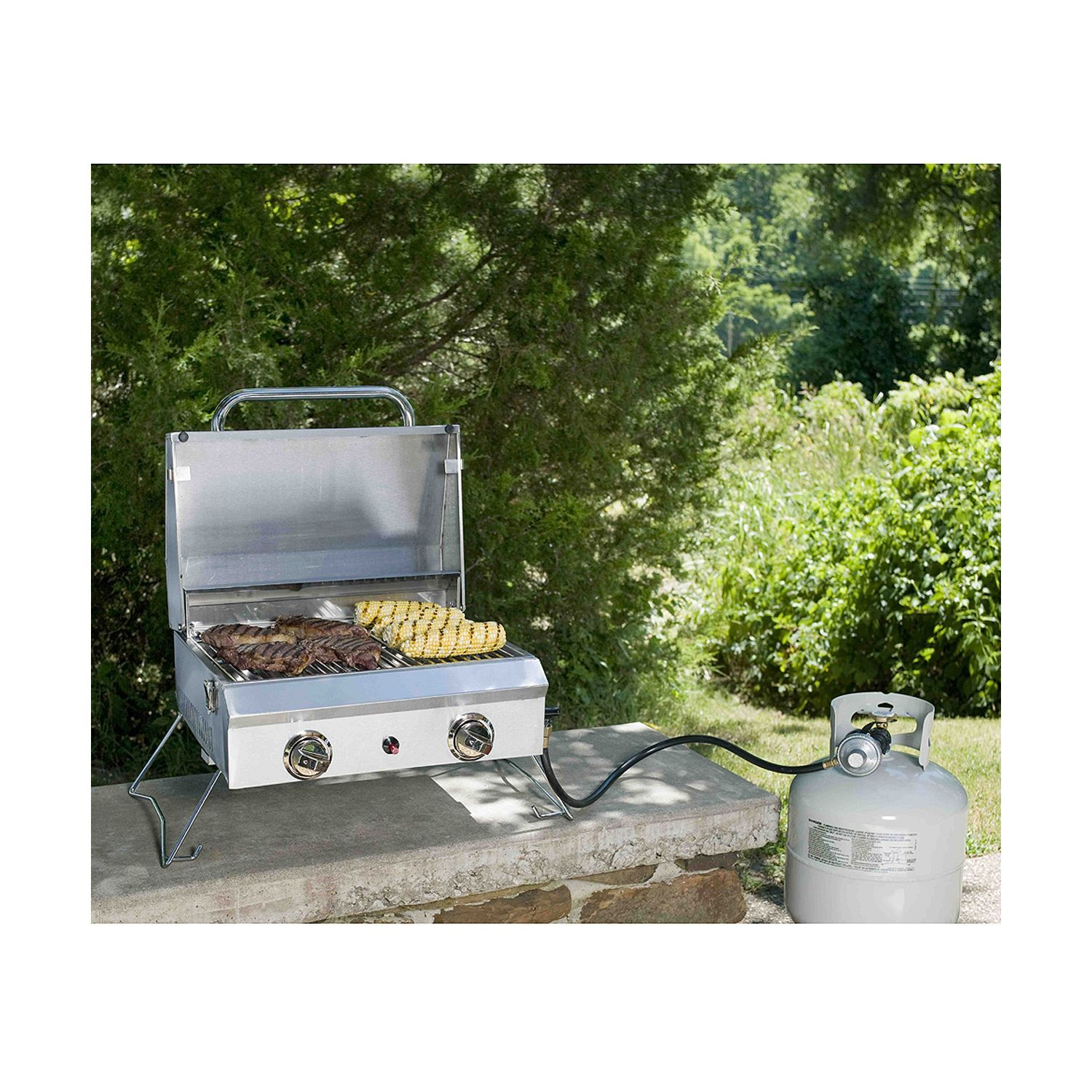 Portable Stainless Steel Gas Grill With Cover Sam S Club Gas