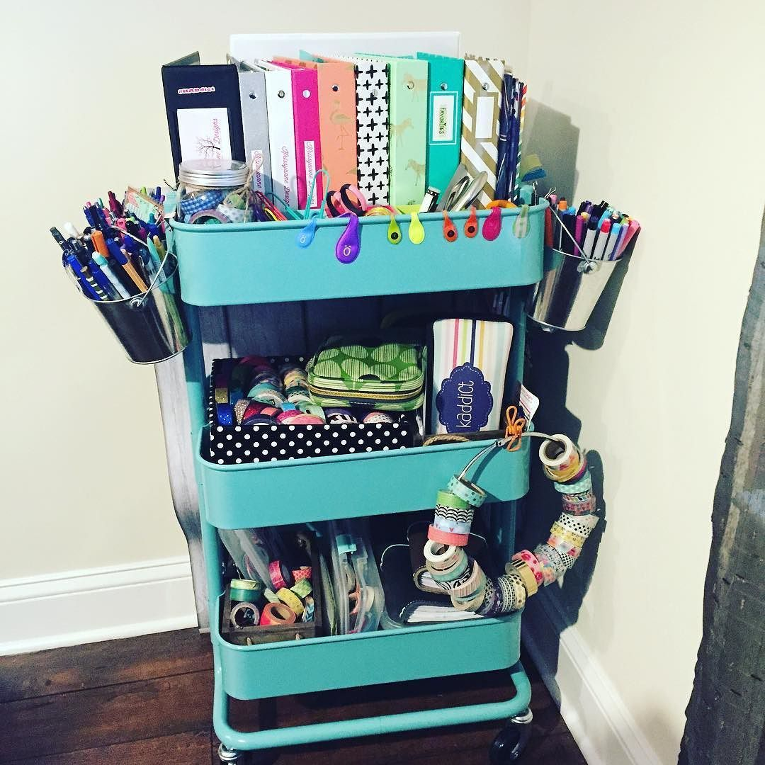 planner peace starts with an organized raskog cart even