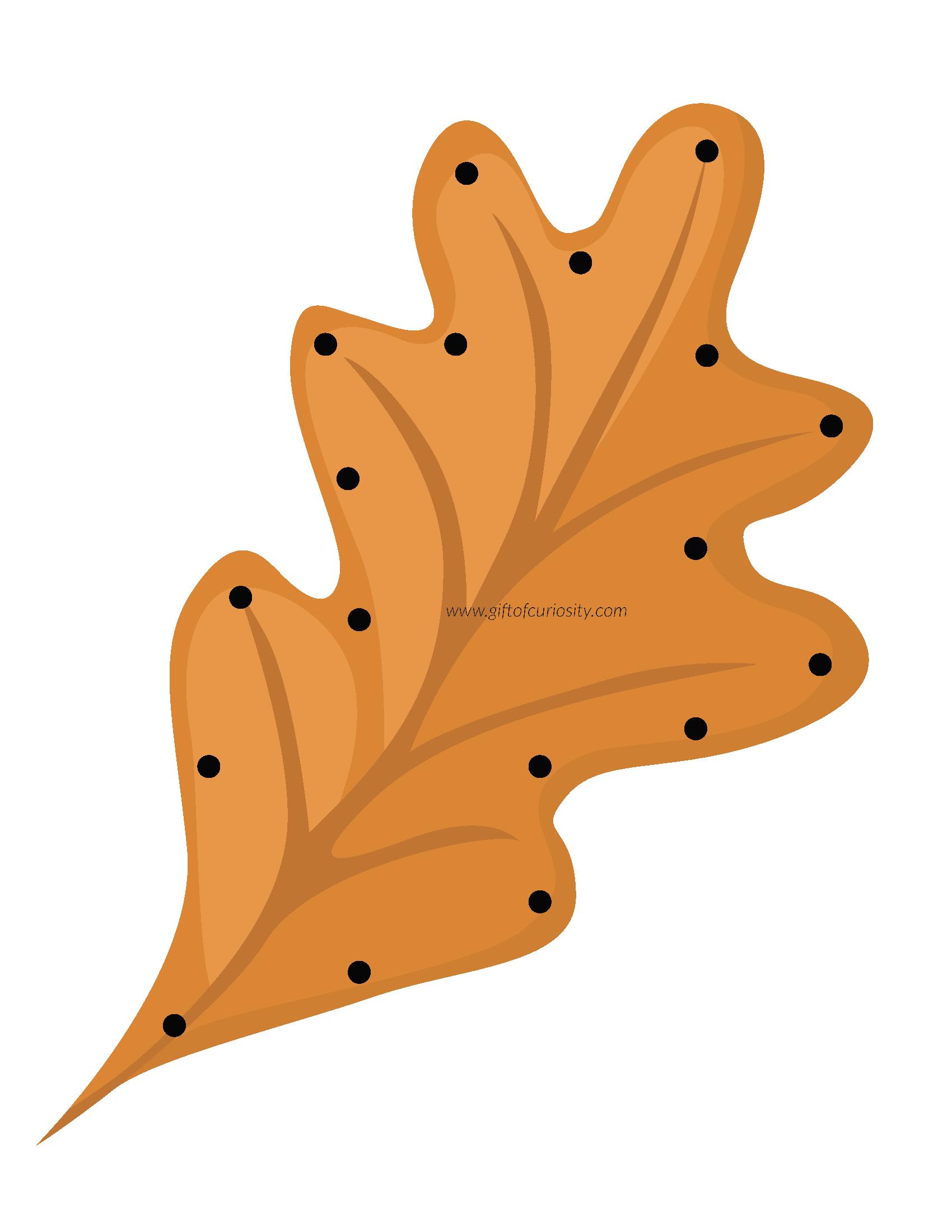 Fall Leaf Lacing Cards