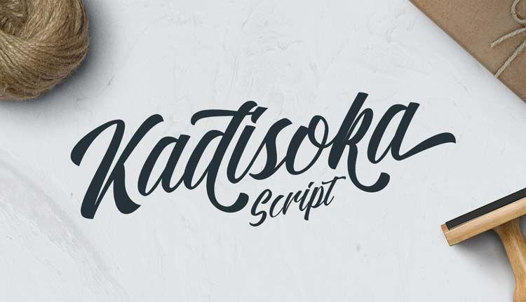 Typographie : Elle est gratuite et elle s'appelle « Kadisoka Script »