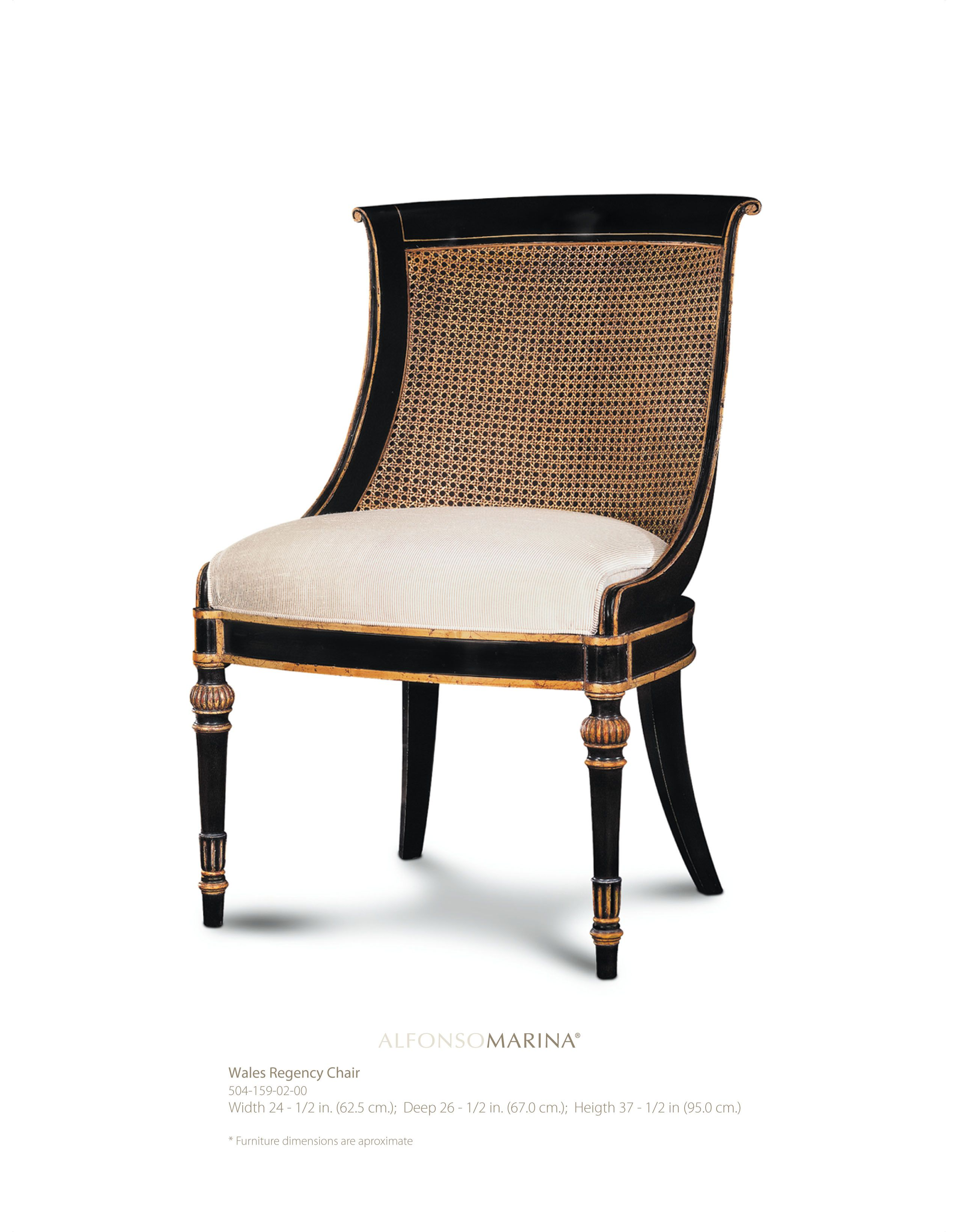 Wales Regency Chair By Alfonso Marina Ebanista Chairs