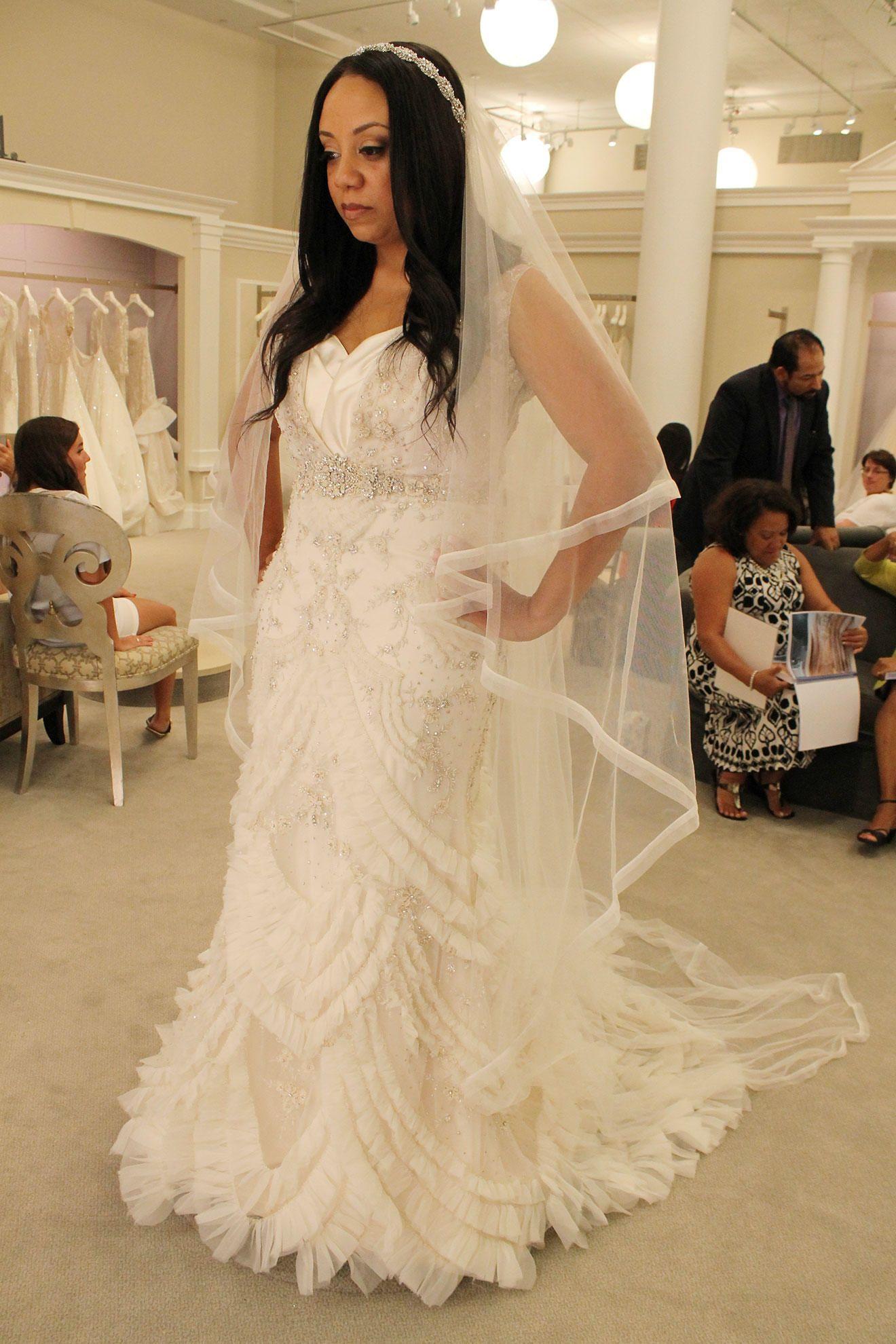 lazaro blush wedding dress say yes to the dress www