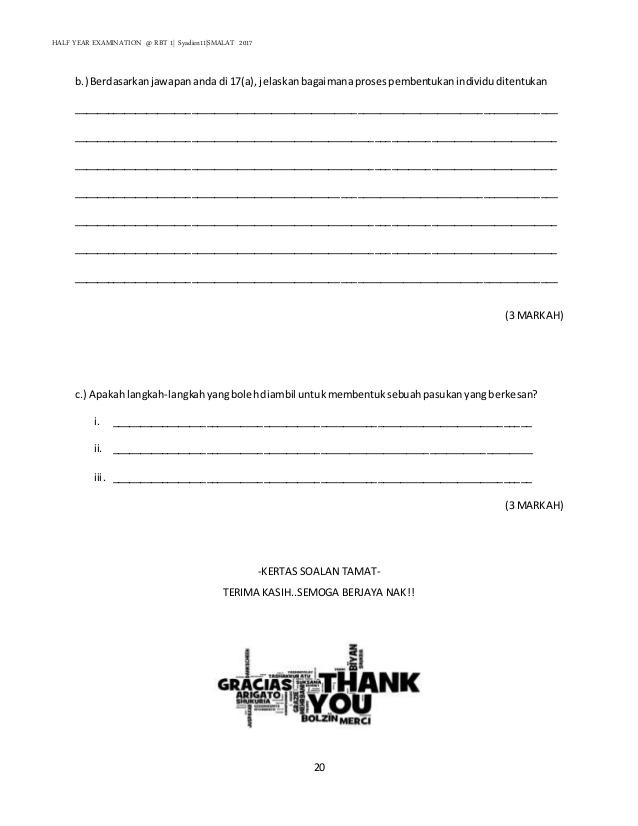 Soalan Rbt Tingkatan 1 Bahagian A Dan B Dan B Dan Background Images Free Download