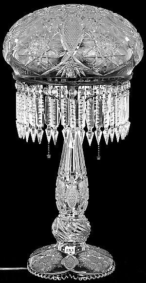 Cut Gl Crystal Table Lamps Auctions American Brilliant Nov 15 Antique Trader