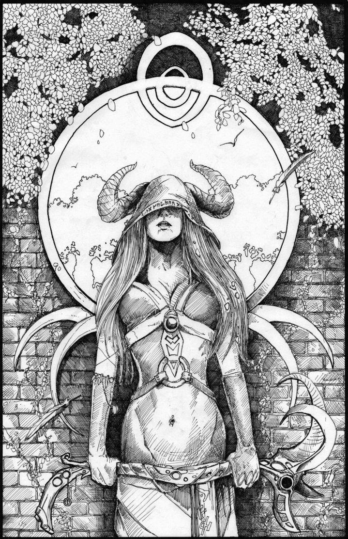 Tarot Series High Priestess by QuestingRaven on DeviantArt