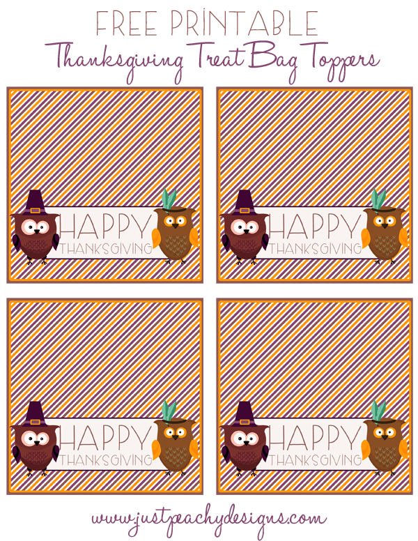 photograph relating to Free Printable Bag Toppers Templates referred to as Free of charge Printable Thanksgiving Handle Bag Toppers Thanksgiving