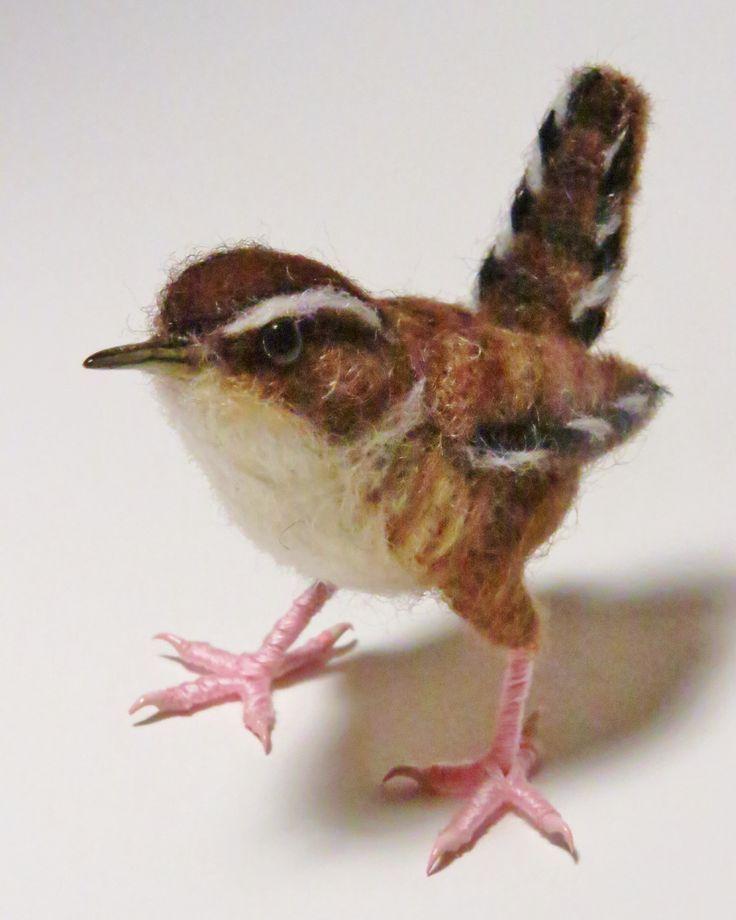 felted bird design great details #feltbirds
