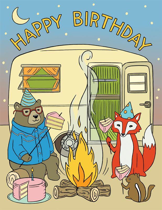 Birthday Cake Smores Over A Campfire Anyone Cute Furry