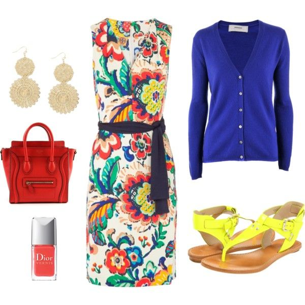 bright spring colors- cute dress for all the fun things ahead in spring and early summer.