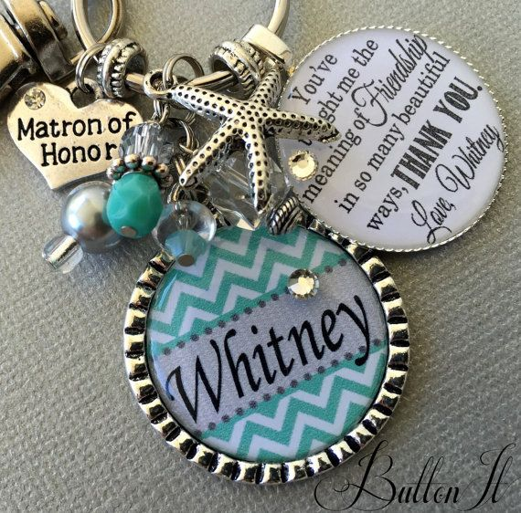 Beach Wedding Maid Of Honor Gift Matron Bridesmaid Personalized